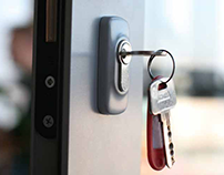 A lock ensures the security of a home