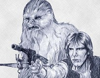 Star Wars Drawing by Shelley Fairbanks