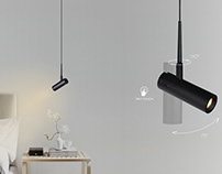 FAIRY pendant reading lamp from FLUA