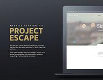 Escape Fashion Brand Website Concept
