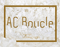 AC Boucle free font