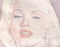 Marilyn Monroe Drawing by Shelley Fairbanks