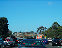 Technology Company Billboards Along Silicon Valley