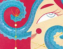 Octopus Queen Poster