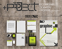 PlusProject-Corporate Identity/Posters(College Project)