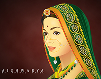 Jodha - Aishwarya Rai Illustration