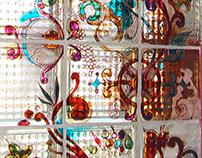 Sticla colorata - multicolor