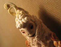 Vintage-Fairy. (hand-made Christmas-Tree decorations)