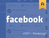 Facebook - iOS7 Redesign