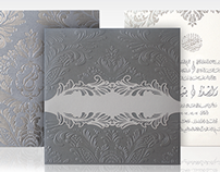 Silver Arabic Wedding Invitation