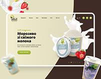 Vital — сайт производителя мороженого
