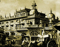 OLD INDIAN PALACE(WATER COLOR)