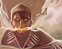 Iron Man Attack On Titan Digital Painting