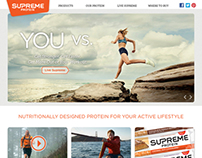 Supreme Protein Website Design