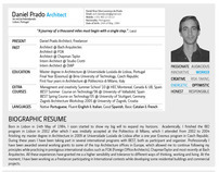 CV Arch Daniel Prado