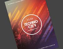 Techno City Flyer Template