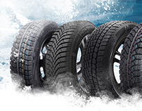 Winter car tires - Billboard