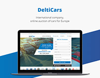 DeltiCars/Online auction/Web design/UI/UX
