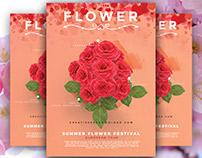 Flower Flyer Free PSD Template