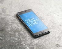 iPhone 6S Minimalist Mockup - Free PSD