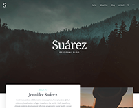 Suarez WordPress Modern Blogging Theme
