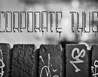Corporate Thug Typeface