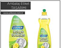 Bulaşık deterjanı - Ambalaj Etiket çalışması