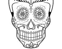 Sugar Skulls for Skateboard Decks