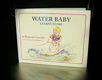 Water Baby Learns to Ski - book design