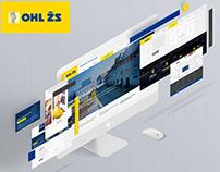 OHL ŽS / construction company web redesign concept