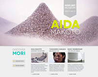 Web Design Project // MORI ART MUSEUM