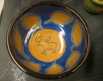 Pottery- Moose Design