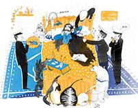 Illustrations for magazine Kosmos dla dziewczynek