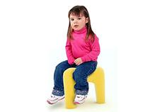 Tooth children stool