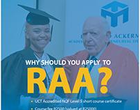 RAA 2018 recruitment designs