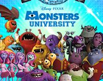 """Monsters University"" Disney Channel Campaign Graphics"