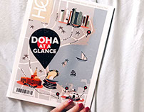 Doha map illustration for Magazine Cover