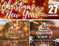 Bundle Christmas Badges & label