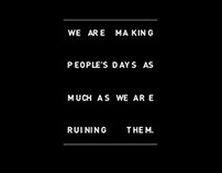 We Are Making People's Days...