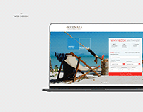 Web design for sarenata hotel