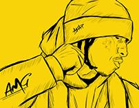 Asap Rocky sketch x 2016