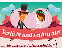 Verliebt und verheiratet - Wedding infographic
