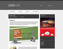 Web Page Layout Design - Single Page