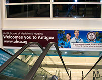 Airport Banners for UHSA University in Antigua