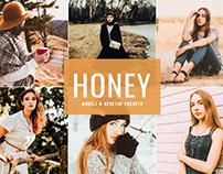 Free Honey Mobile & Desktop Lightroom Presets