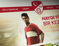 Turkish Football Federation Concept UI Design
