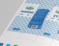 Branding & Packaging: Akbulak Milk Brand