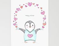 Happy Winter Penguin