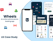 Wheels - Book Vehicle Services in Seconds | App Design