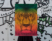 Lion, Limited Silkscreen Print